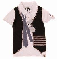 Mini Shatsu Real Tie & Vest Polo