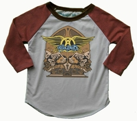 Rowdy Sprout Aerosmith Raglan Tee-Will Ship By 8/30/14
