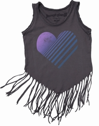 Rowdy Sprout Heart Fringe Tank