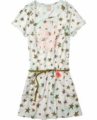 Scotch R'Belle Girls Tie Dye Jersey Dress With Braided Detail