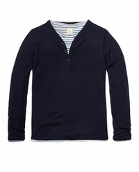 Scotch & Soda Shrunk 2 in 1 Sweater With Tee
