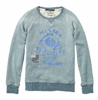 Scotch & Soda Shrunk Crewneck Sweater With Artwork and Patches