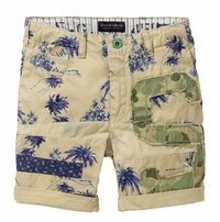 Scotch & Soda Shrunk Freeman Palm Tree Slim Fit Shorts