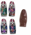 Solid Foil Wrapped Milk Chocolate Bunnies - 10lb