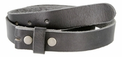 "BS100 Vintage Full Grain Leather Belt Strap 1-1/8"" Wide-Black"