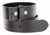 "BS105035 One Piece Full Genuine Leather Belt Strap 1-3/8"" (35mm) Wide-Black"