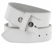 BS1200 100% Leather Belt Strap - White $10.50
