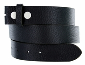 BS1400 Pebble Grain 100% Genuine Leather Belt Strap- Black