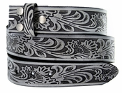 "BS220 Embossed Belt Strap Snaps On 1-1/2"" Wide - Gray"
