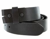 "BS40 Vintage Full Grain Leather Belt Strap 1-1/2"" Wide-Black"