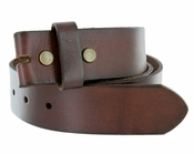 "BS40 Vintage Full Grain Leather Belt Strap 1-1/2"" Wide-Brown"