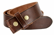 "BS40 Vintage Full Grain Leather Belt Strap 1-1/2"" Wide - Brown"
