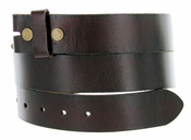 "BS40 Vintage Full Grain Leather Belt Strap 1 1/2"" Wide-Coffee"