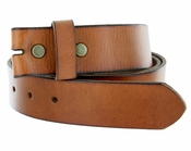 "BS40 Vintage Full Grain Leather Belt Strap 1-1/2"" Wide-Tan"