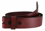 BS55 Genuine Full Grain Leather Belt Strap - Burgundy