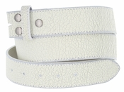 "BS56 White Distressed Leather Belt Strap 1 1/2"" Wide $4.00"