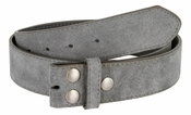 "BS066 Gray Suede Leather Belt Strap 1 1/2"" Wide"