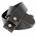 "BS80 Vintage Soft One Piece Full Leather Belt Strap 1-1/2"" Wide-Black"