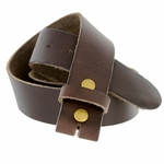 "BS80 Vintage Soft One Piece Full Leather Belt Strap 1-1/2"" Wide-Brown"