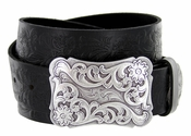 Cowtown Western Tooled Full Grain Leather Belt