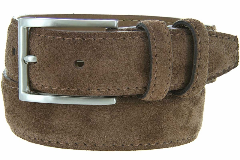 s suede leather dress belt brown