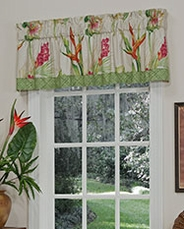 Bird of Paradise Tailored Valance