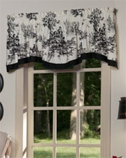 Bouvier Shaped Valance