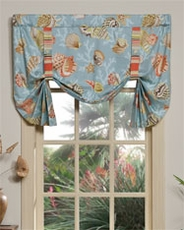 Daytona (Blue) Tie Up Curtain