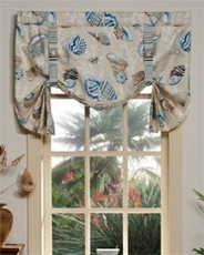 Daytona (Natural) Tie Up Curtain