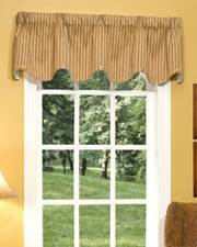 Elise (Beige) Scalloped Button Valance