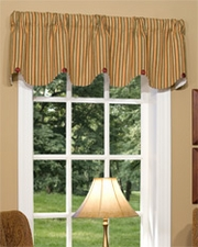 Elise (Rust) Scalloped Button Valance