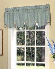 Erica (Blue) Scalloped Button Valance