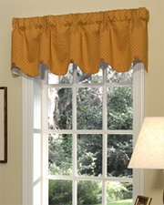 Erica (Rust) Scalloped Button Valance