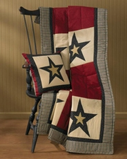 Federal Star Quilted Throw