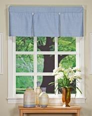 Gingham Box Pleat Valance