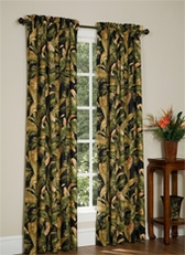 La Selva (Black) Rod Pocket Curtains