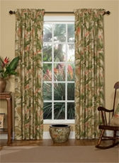 La Selva (Natural) Rod Pocket Curtains