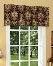 Lahore (Onyx) Tailored Insert Valance