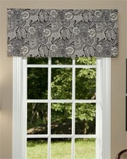 Paddock Shawl (Onyx) Tailored Insert Valance