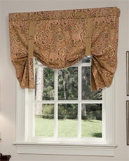 Paddock Shawl Tie Up Curtain - Antique