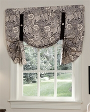 Paddock Shawl Tie Up Curtain - Onyx