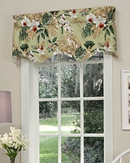Sanibel Retreat Scalloped Valance