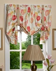 Tulips Tie Up Curtain
