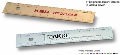 Engineers Ruler 6� & 12� Aluminum Engineering Straightedge Custom Imprinted Promotional Products