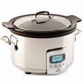 All-Clad 4 Quart Slow Cooker with Black Ceramic Insert