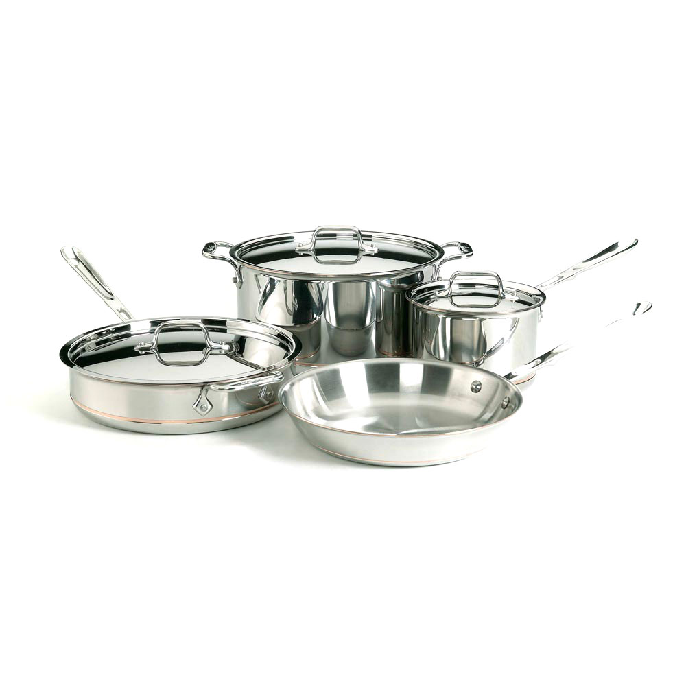 All-Clad Copper Core Cookware Set, 7 Piece