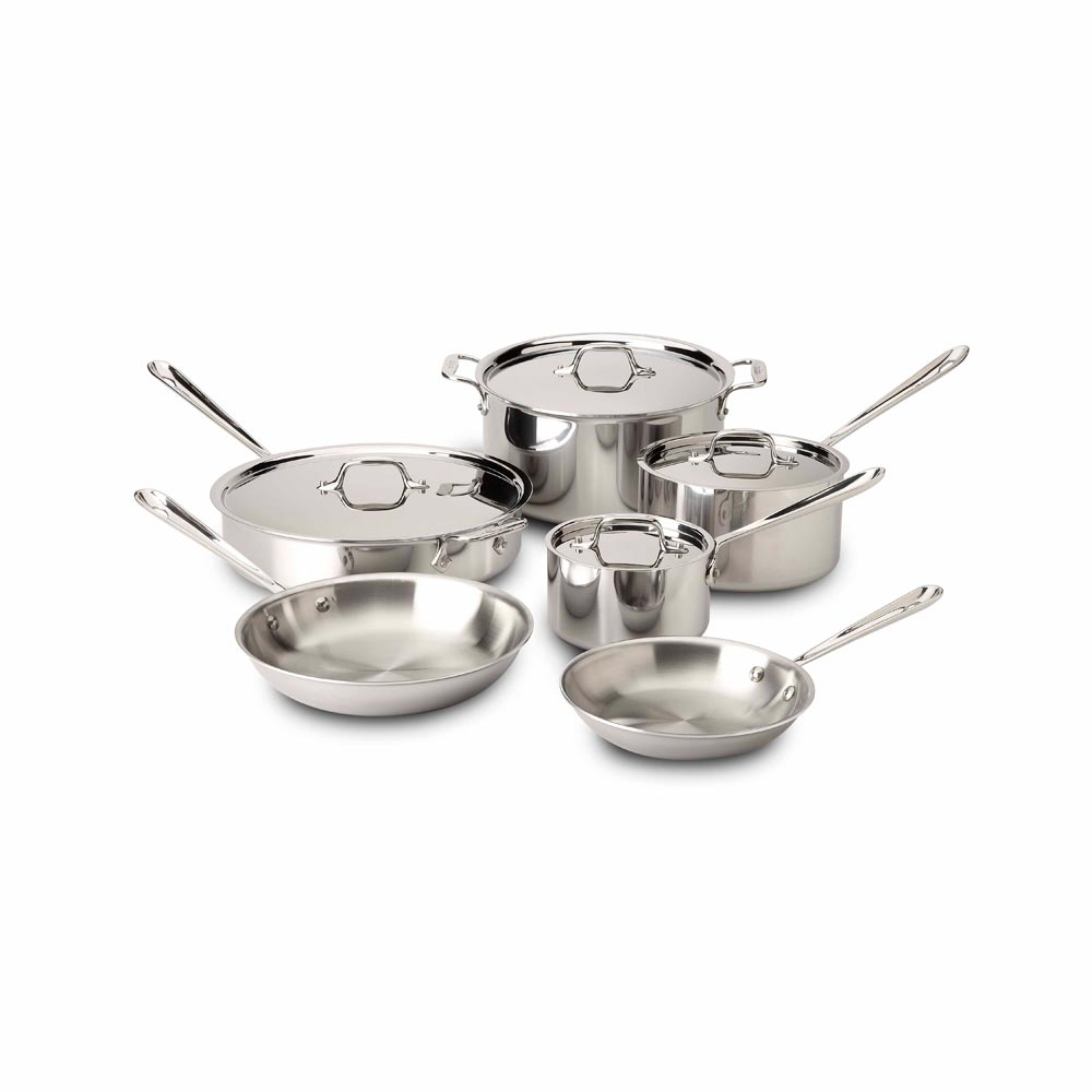 All clad stainless steel cookware sets - All Clad Stainless Steel Cookware Set 10 Piece
