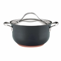 Anolon Nouvelle Copper Hard Anodized 4 Quart Nonstick Casserole Pan