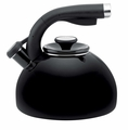 Circulon Morning Bird 2 Quart Steel Teakettle, Black