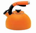 Circulon Morning Bird 2 Quart Steel Teakettle, Mandarin Orange